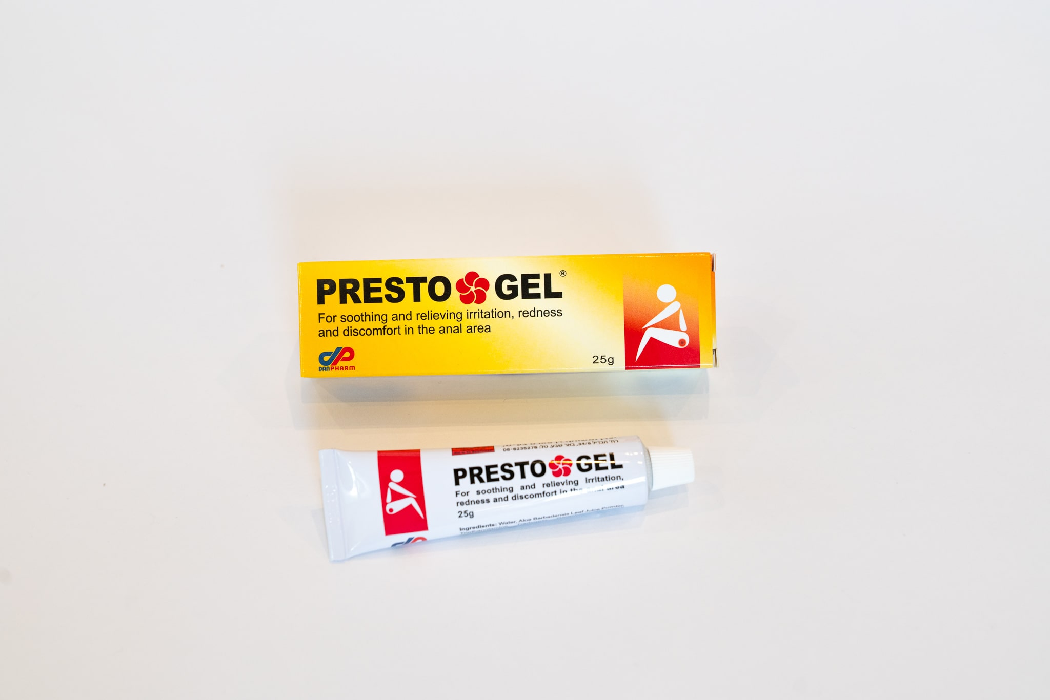 Presto Gel soothes and relieves irritation, redness and discomfort in the anal area